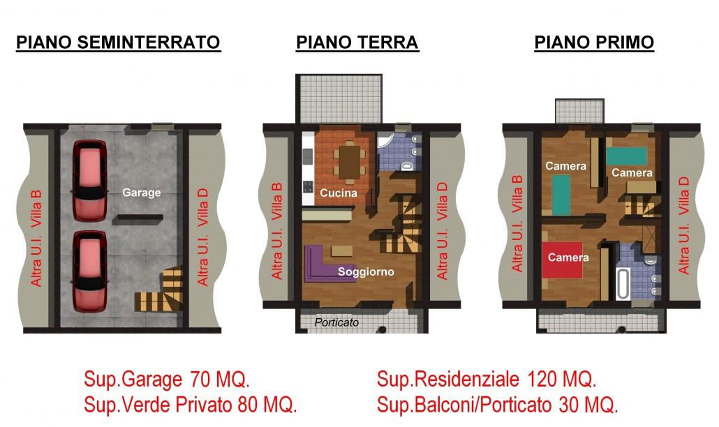 Costruzioni delmonte s r l ultima villa a schiera for Pianta villetta a schiera